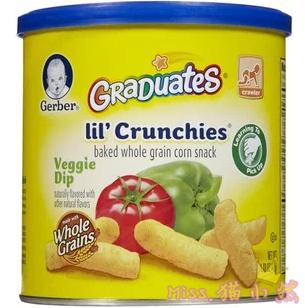 嘉宝Gerber手指泡芙条 宝宝零食 蔬菜味 42g