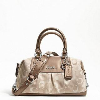 COACH - ASHLEY 3 COLOR SIGNATURE SATCHEL