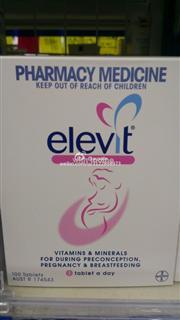 澳洲Elevit爱乐维孕妇营养片叶酸/孕期维生素正品 100片