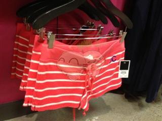 美国代购 Juicy Couture/橘滋 女士毛巾条纹套装 短袖加短裤