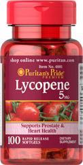 (5瓶)普瑞登Puritan's pride番茄红素100粒10mg 保护前列腺