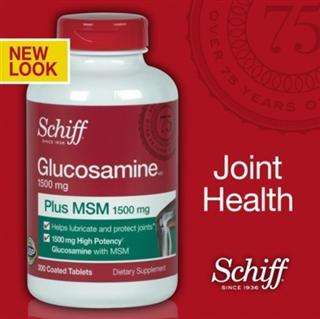 Schiff Glucosamine MSM 氨基葡萄糖维骨力 200粒/瓶