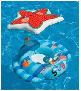 Intex 海星遮阳坐圈  儿童游泳圈 适合1-3岁