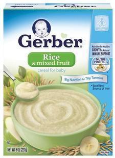 美国直邮 Gerber 嘉宝混合水果全谷物婴儿米粉三段 8个月+