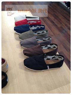 Foxxy美代 TOMS 基本款帆布鞋 美国代购+现货 女款&大童款专拍