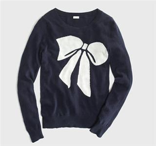 【一秒一淘1M1T】美国代购J Crew 蝴蝶结针织衫