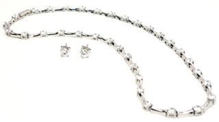 美国代购免税首饰(包邮)-Crislu竹节项链和耳饰套装