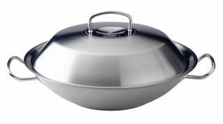 菲仕乐雅格不锈钢盖中华炒锅,35cm,带滤油网