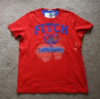 美国代购 Abercrombie Fitch T恤衫 刺绣虎头