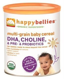 美国 Happy Baby 有机混合谷物婴儿3段米粉(添加DHA和益生菌)