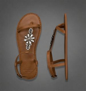 美国现货 AF女式宝石真皮凉鞋SHINE LEATHER FLIP FLOP