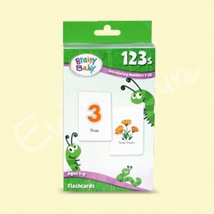美国直邮Brainy Baby 123's Flashcards抽认卡片