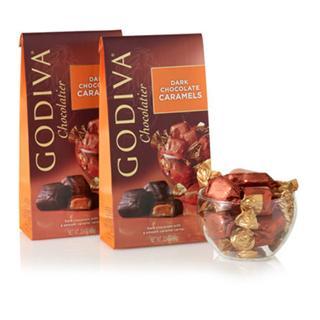 情人节礼物 GODIVA歌帝梵 相拥亲吻黑巧克力小礼装 20粒