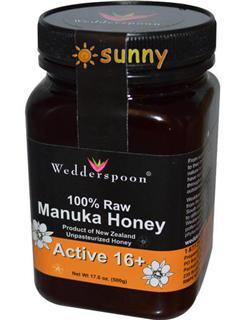 免运费!包美国直邮Wedderspoon纯天然Manuka麦卢卡蜂蜜16+ 500克