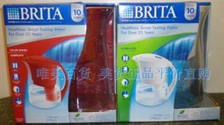 【包美国直邮】正品Brita碧然德10杯过滤水壶净水器含2个滤芯