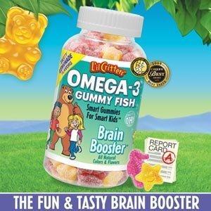 美国直邮L'il Critters小熊糖熊宝宝omega-3 DHA鱼油软糖180粒