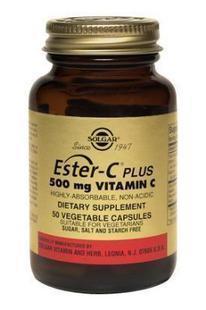 免运费!包美国直邮 SOLGAR酯化VC 500mg 100粒 预防感冒提高免疫