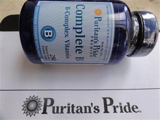 (5瓶)普瑞登Puritan's pride 天然复合维生素B族祛痘抗疲劳1253