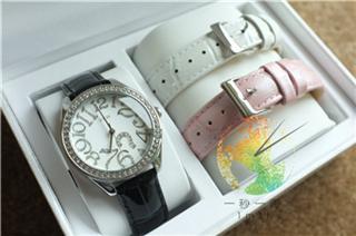 【一秒一淘1M1T】美国代购Guess 手表套装礼盒 可换表带