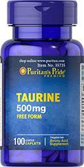 缺货官网直邮Puritan's pride牛磺酸Taurine 500 mg(0520)