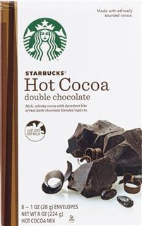 美国直邮Starbucks星巴克热巧克力可可粉双重巧克力口味224克~8包