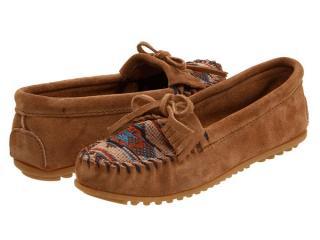 正品美国代购Minnetonka唐卡El Paso II 拼皮流苏单鞋直邮