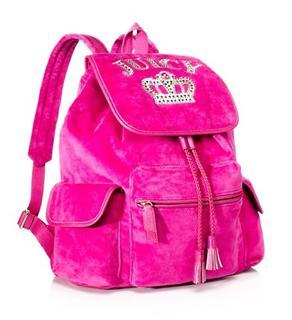 美国代购 juicy couture 橘滋 女式皇家皇冠丝绒运动旅行双肩背包