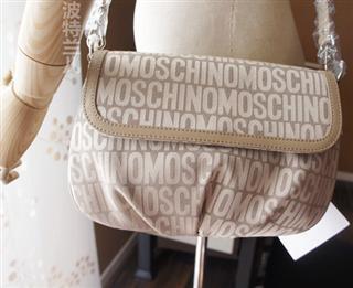 美国直邮MOSCHINO莫斯其诺LOGO字母标经典斜挎包5折特价现货