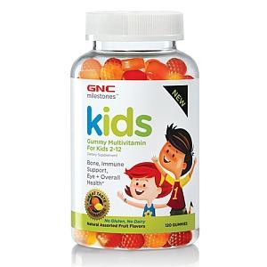 免运费包美国直邮GNC Kids儿童复合维生素水果口味软糖120粒