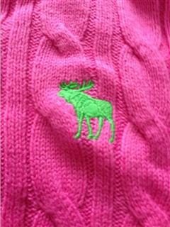 现货 Abercrombie&Fitch 麻花针织衫