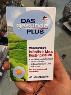 捷克代购DM Das Gesunde Plus冰岛深海海藻提取物 深度润喉儿童止