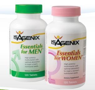 美国直邮★ISAGENIX爱身健丽●成人全面均衡营养素(男/女) 120粒