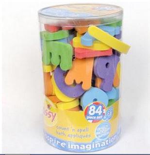 美国Sassy洗澡戏水玩具 数字字母 益智安全 84片 无毒正品