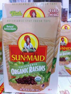 美国直邮果干 SUN-MAID阳光少女加州葡萄干1814g 天然有机零食