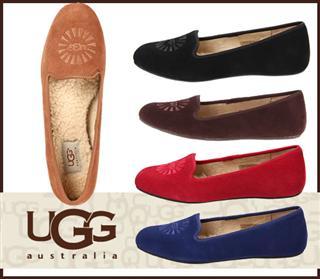 USA小妖美代 UGG ALLOWAY 舒适羊毛船鞋
