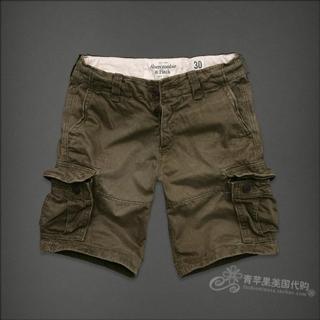 美国代购国内现货 AF男款军绿色经典Sawteeth Mount.工装短裤