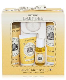 Burt's Bees小蜜蜂婴儿新生儿洗护保养礼盒5件大套装