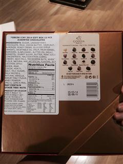 godiva2014马年新年巧克力礼盒 15粒装