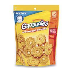 Gerber嘉宝肉桂全麦动物磨牙饼干曲奇/竹芋葛粉花瓣磨牙饼干曲奇