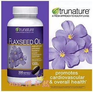 TruNature Flaxseed Oil 天然有机亚麻籽油 300粒