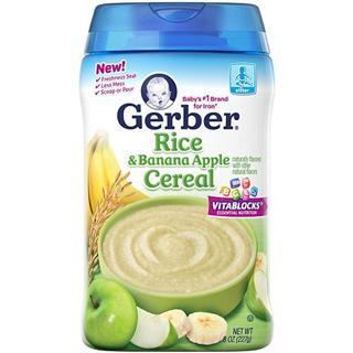 【美国直邮】Gerber嘉宝二段香蕉苹果大米米粉 227克