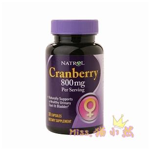 Natrol蔓越莓浓缩精华胶囊宫颈糜烂尿路感染排毒祛斑