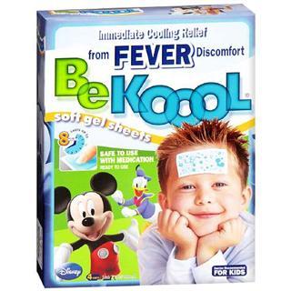 美国直邮 Be koool儿童冰凉柔软啫喱发烧退热贴