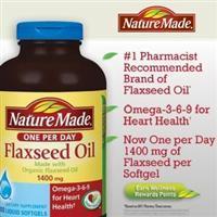 美国直邮Nature Made有机亚麻籽油 1400mg 软胶囊 300粒