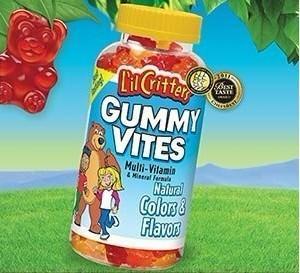 美国原装直邮L'il Critters 复合维生素小熊软糖 275粒