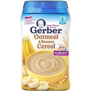 【美国直邮】Gerber嘉宝二段香蕉燕麦米粉 227克