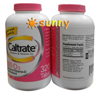 免运费!包美国直邮惠氏钙尔奇钙片Caltrate 600+D加强320粒加量装