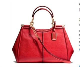 美国代购 COACH 25245 MADISON麦迪逊手提女包 高贵朱砂红