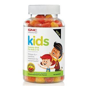 美国直邮GNC 儿童鱼油DHA软糖+儿童多维复合维生素软糖 套装