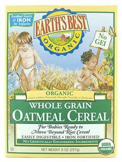 美国 Earth's Best 世界最好高铁婴儿燕麦米粉(二段) 227g/盒